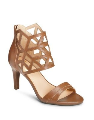 Salamander Cutout Leather Sandals by Aerosoles