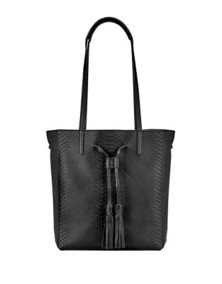 Hannah Python-Embossed Leather Tote 500087026972