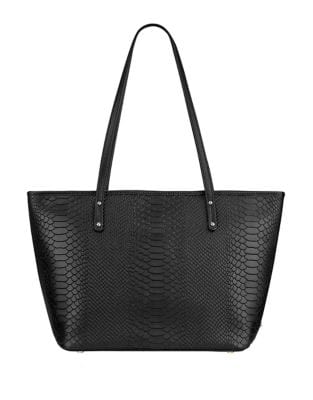 Taylor Python-Embossed Leather Tote