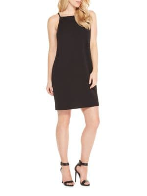 Solid Squareneck Dress by Maggy London