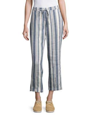 Striped Drawstring Pants...