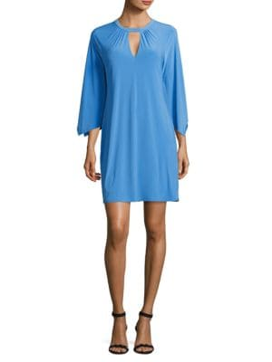 Solid Three-Quarter-Sleeve Dress by Laundry by Shelli Segal