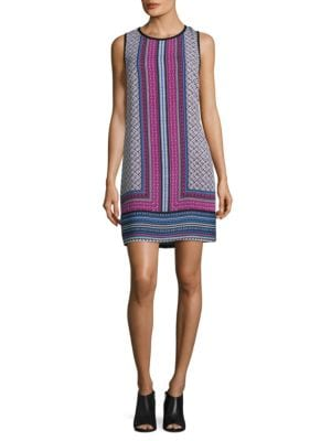 Sleeveless Printed Shift Dress by Laundry by Shelli Segal