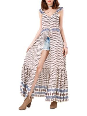 Santa Fe Festival Scarf-Print Dress by California Moonrise