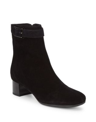 Delilah Suede Leather Booties by La Canadienne