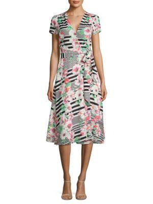 Floral Wrap Dress by Yumi Kim