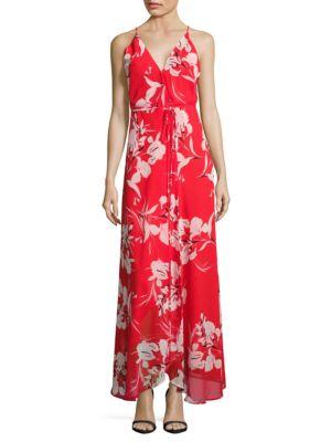 Rush Hour Maxi Floral Wrap Dress by Yumi Kim