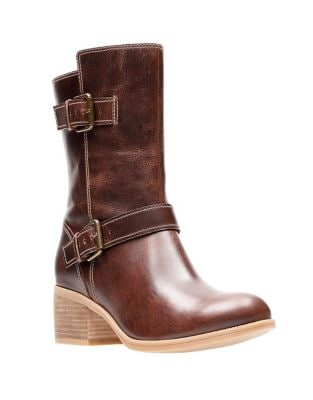 Maypearl Leather Boots by Clarks