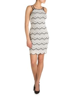 Scalloped Squareneck Dress by Guess