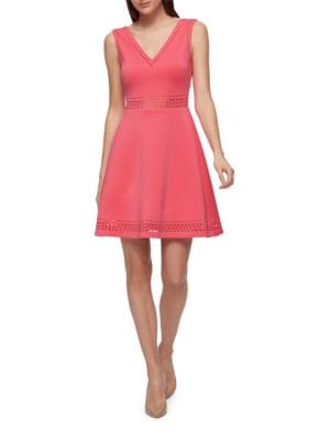 Laser Cutout Sleeveless Dress by Guess