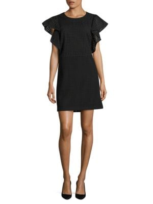 Calista Ruffle-Sleeve Dress by Mika & Gali
