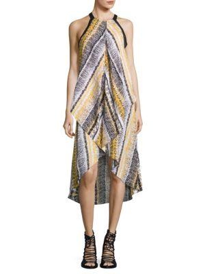 Snake Print Handkerchief Dress by Mika & Gali