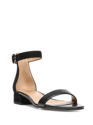 Swan Open-Toe Leather Sandals by Franco Sarto