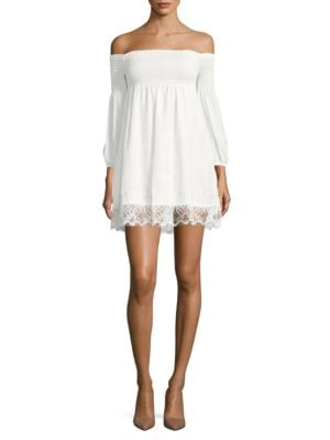 Lace-Trimmed Off-the-Shoulder Dress by BB Dakota