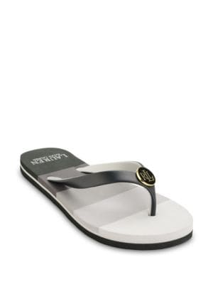 Elissa II Colorblock Thong Sandals by Lauren Ralph Lauren
