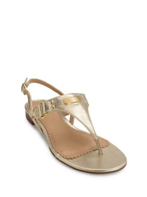 Valinda Leather Thong Sandals by Lauren Ralph Lauren