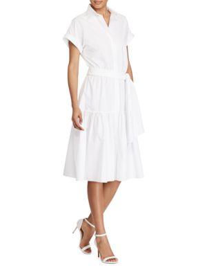 Fit-and-Flare Cotton Dress by Lauren Ralph Lauren