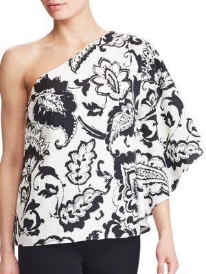 Paisley One-Shoulder Top by Lauren Ralph Lauren
