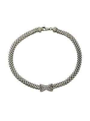 Sterling Silver Flat Popcorn Chain Bracelet 500087041161