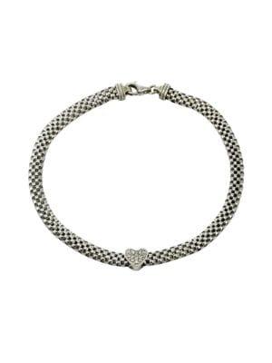 Sterling Silver Flat Popcorn Chain Bracelet 500087041162