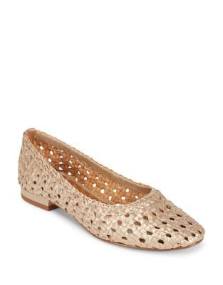 Irene Woven Leather Flats by H Halston