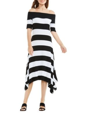 Cuban Striped Dress by Vince Camuto