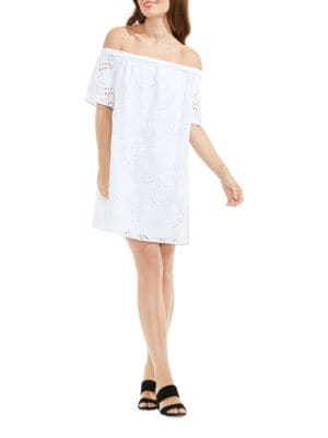 Eyelet Shift Dress by Vince Camuto Plus