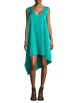 Shana Satin Asymmetrical Dress by BCBGMAXAZRIA