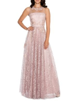 Floral Embellished Gown by Decode 1.8