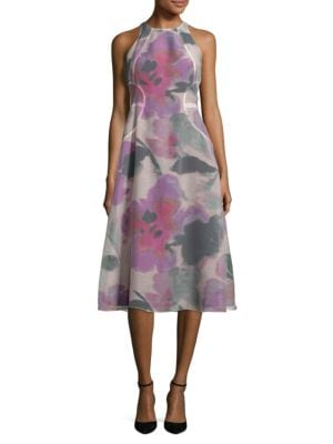 Floral Print A-Line Dress by RACHEL Rachel Roy