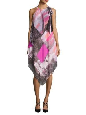 Brushed Print Handkerchief Scarf Dress by RACHEL Rachel Roy