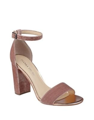 Klover Velvet Ankle Strap Sandals by Ivanka Trump