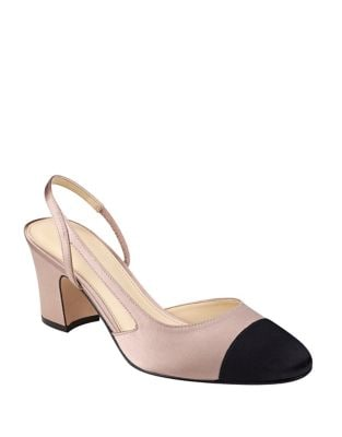 Lia Slingback Satin Pumps by Ivanka Trump