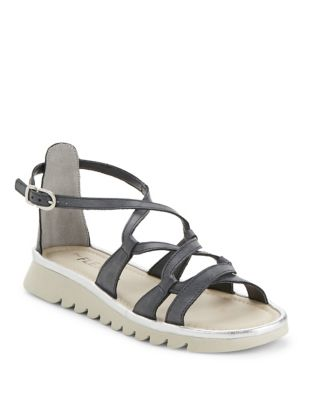 Catchawave Cogle Leather Flatform Sandals by The Flexx