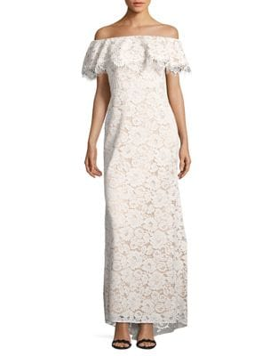 Photo of Lace Off-the-Shoulder Gown by Eliza J - shop Eliza J dresses sales