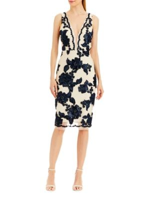 Floral Sleeveless Cocktail Dress by Nicole Miller New York