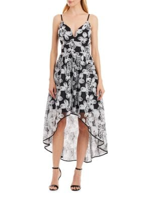 Floral Hi-Lo Dress by Nicole Miller New York