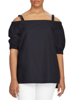 Cotton Off-The-Shoulder Top by Lauren Ralph Lauren