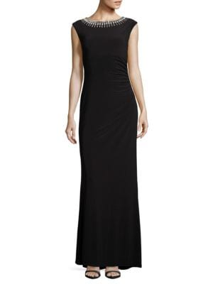 Beaded Long Dress by Vince Camuto Plus