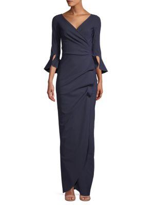 Zalfa Wrap-Front Gown by La Petite Robe di Chiara Boni