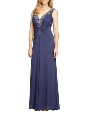 Embellished Ruched Gown by Vince Camuto