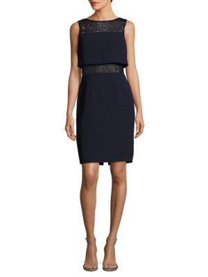 Mesh Sequin Dress by Calvin Klein