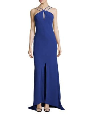 Photo of Calvin Klein Crepe Halter Gown