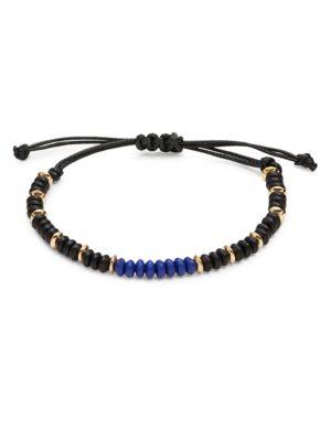 Colorblocked Beaded Cord Bracelet 500087051412
