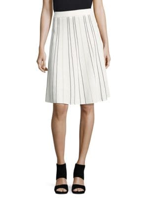 Striped A-Line Skirt by Calvin Klein