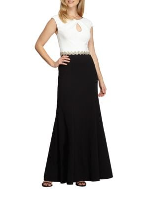 Petite Embellished Colorblocked Gown by Alex Evenings
