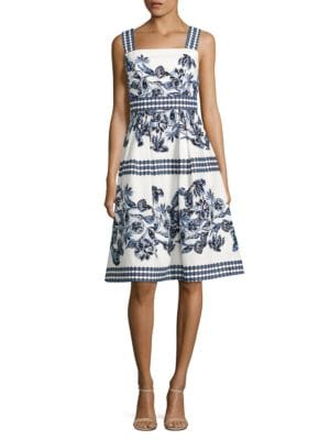 Floral Print Flare Dress by Vince Camuto