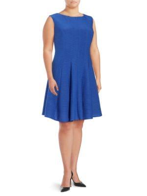 Gabby Skye Flared Solid Dress by Gabby Skye