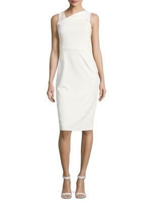 Zip-Accented Crepe Sheath Dress by Ivanka Trump