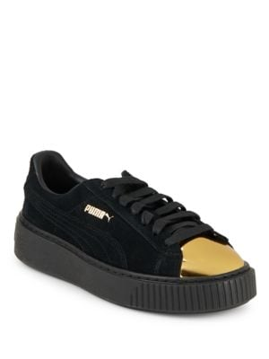 Lace-Up Suede Platform Sneakers by PUMA